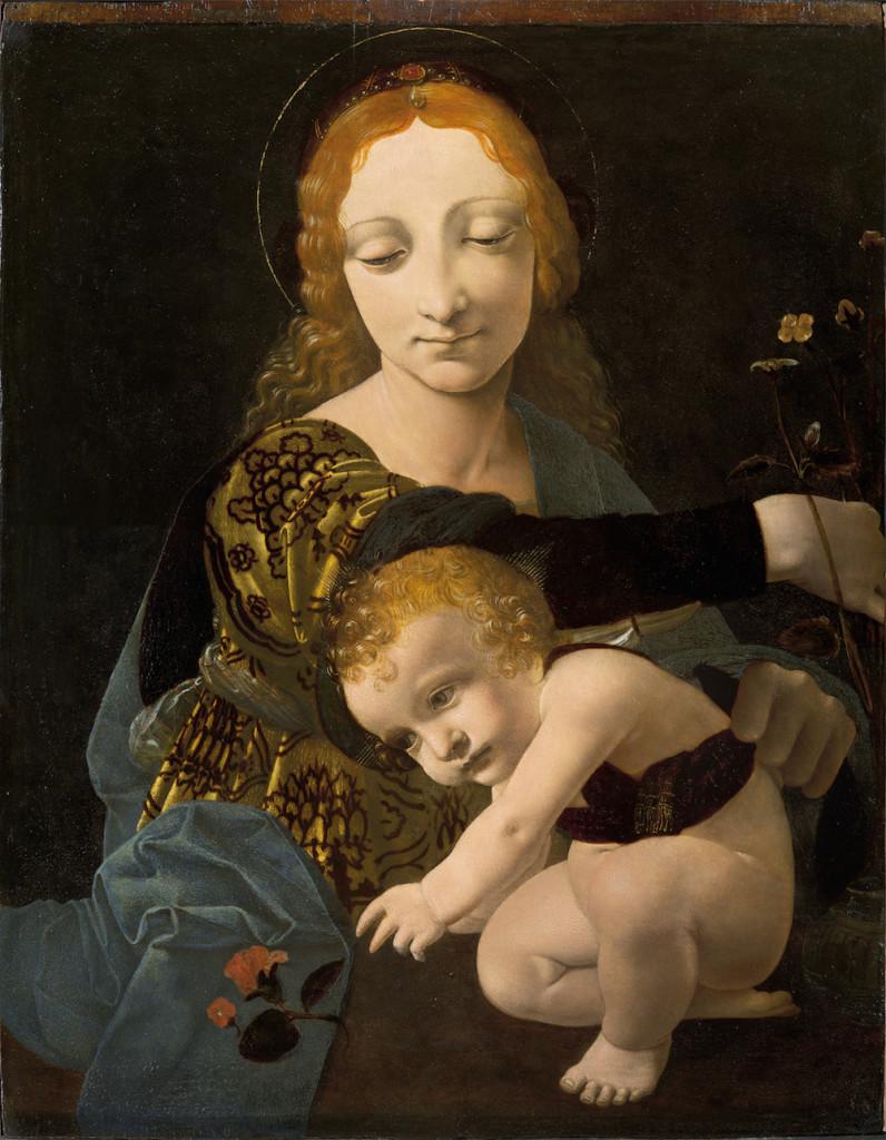 """Giovanni Antonio Boltraffio Milano 1467 – 1516 Madonna con il Bambino (""""Madonna della Rosa""""), c. 1485-1487 © Museo Poldi Pezzoli"""