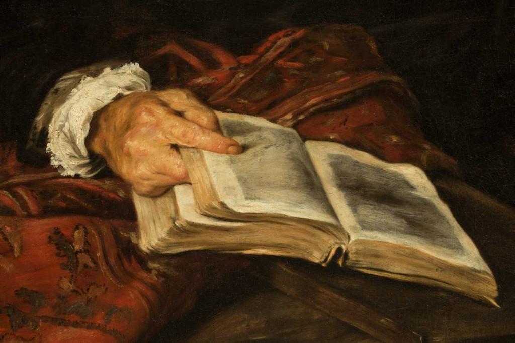 Giovanni Serodine, Ritratto del padre (part.), 1624, Lugano, Museo Civico
