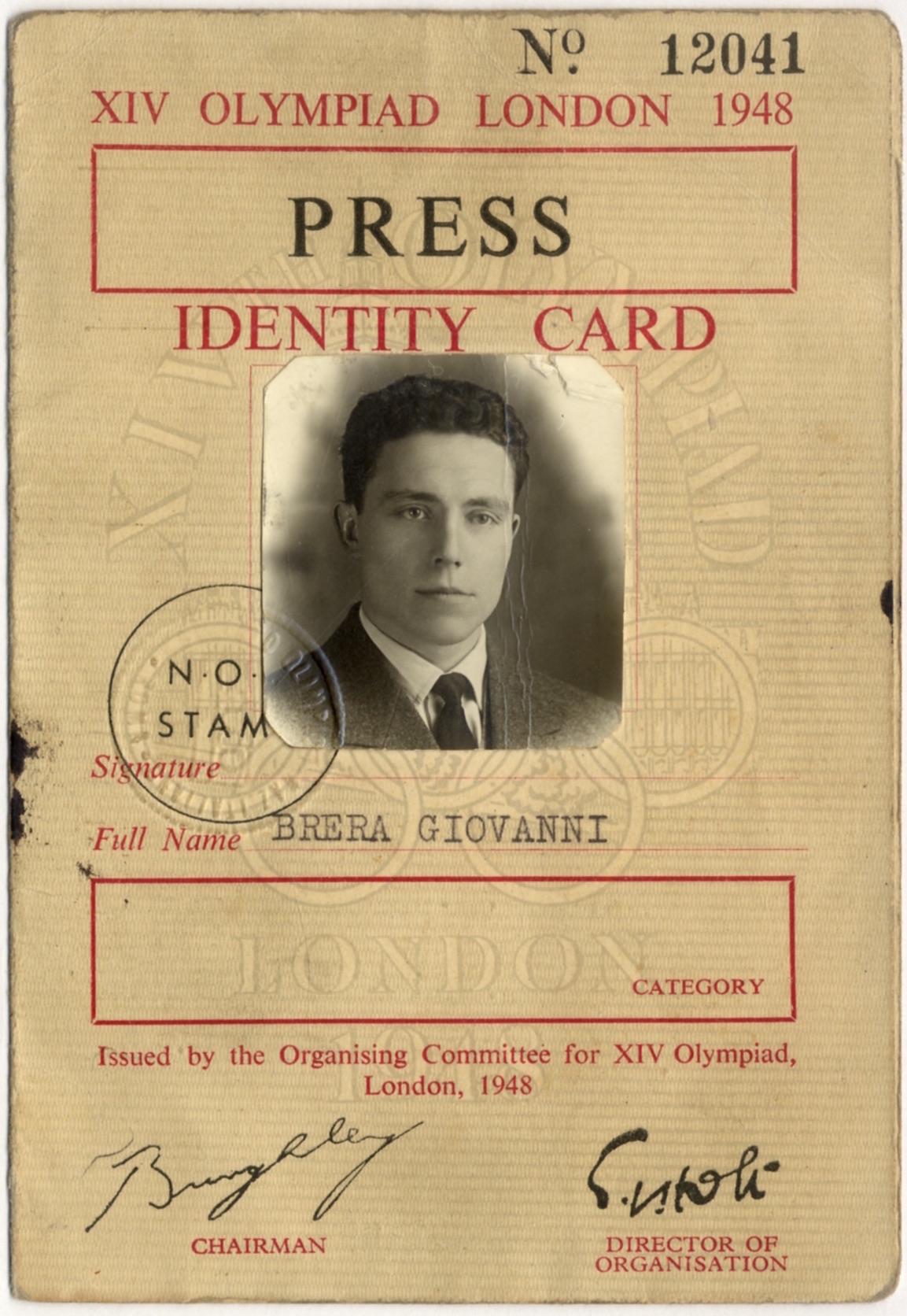 Pass per la XIV Olimpiade, Londra, 1948 AltaDef