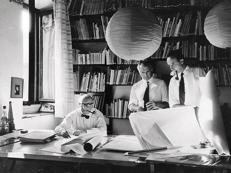 Da sinistra: Rogers, Peressutti e Belgiojoso - Università IUAV di Venezia, Archivio Progetti, Fondo Fondazione Masieri