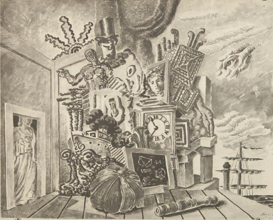 Alberto Savinio - Vita dell'uomo (bozzetto di scena)