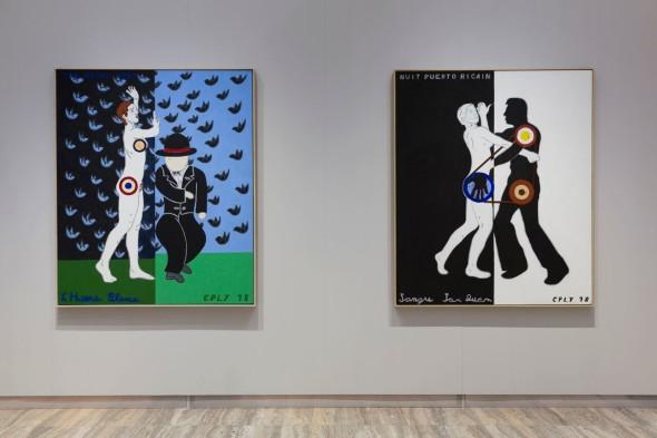 Due delle opere ispirate a La nuit espagnole di Francis Picabia