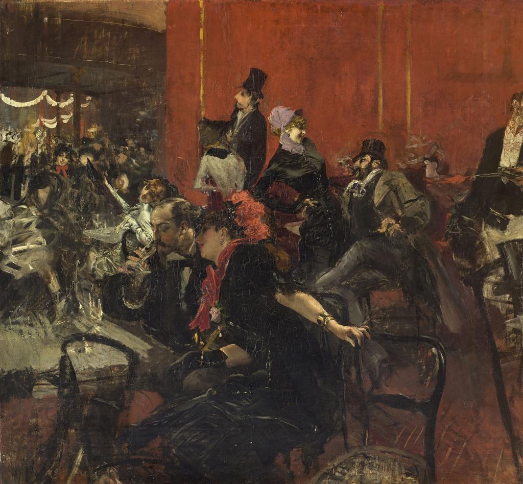 Festa al Moulin Rouge, olio su tela, Giovanni Boldini (1842-1931), MusÈe d'Orsay, ParigiBoldini, Giovanni1889Francia - Parigi, MusÈe d'Orsay