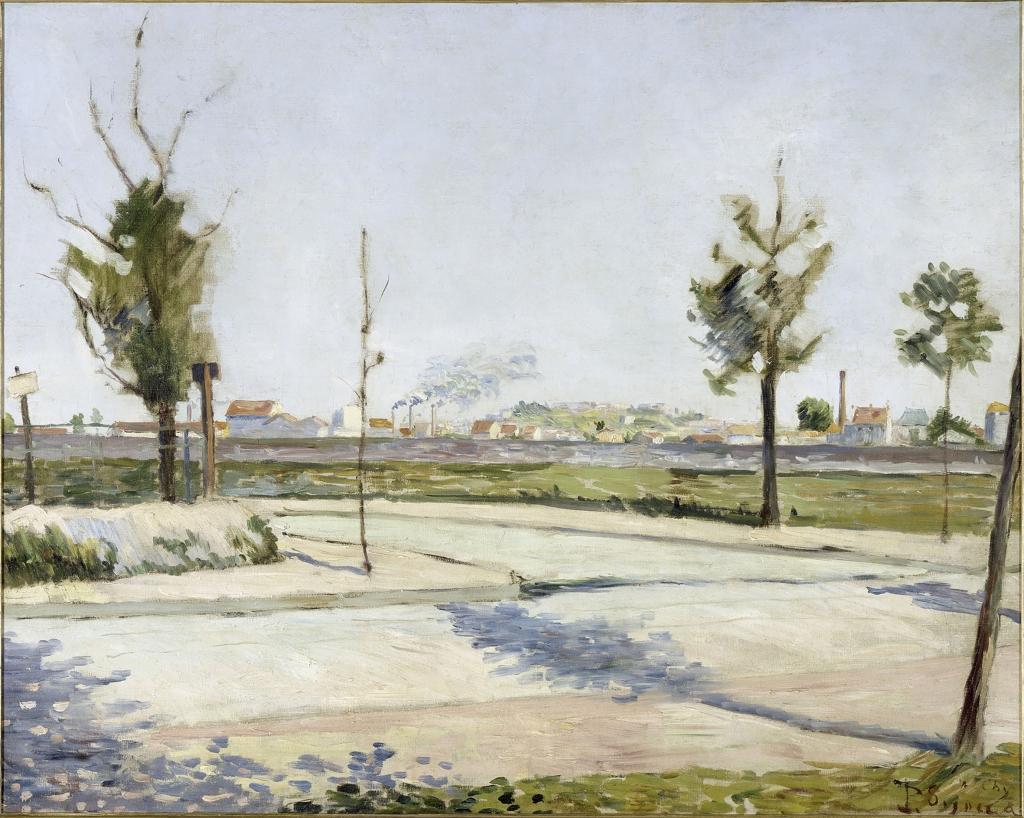 Paul Signac, La Route de Gennevilliers: sobborgo di Parigi, Parigi, Musèe d'Orsay, 1883.