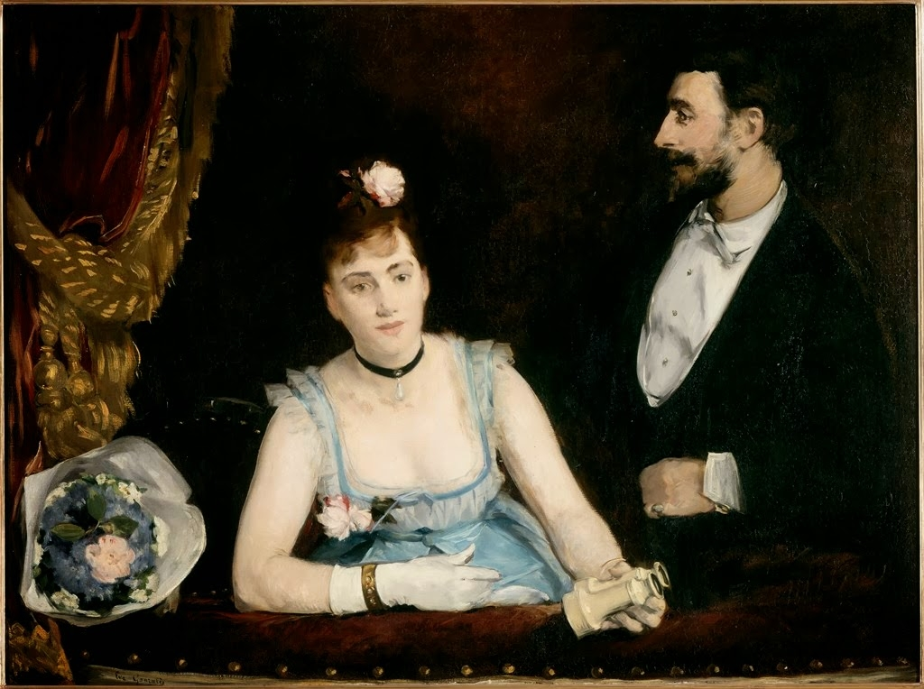 Eva Gonzales, Un palco al Théâtre des Italiens, Parigi, Musée d'Orsay, 1874 circa
